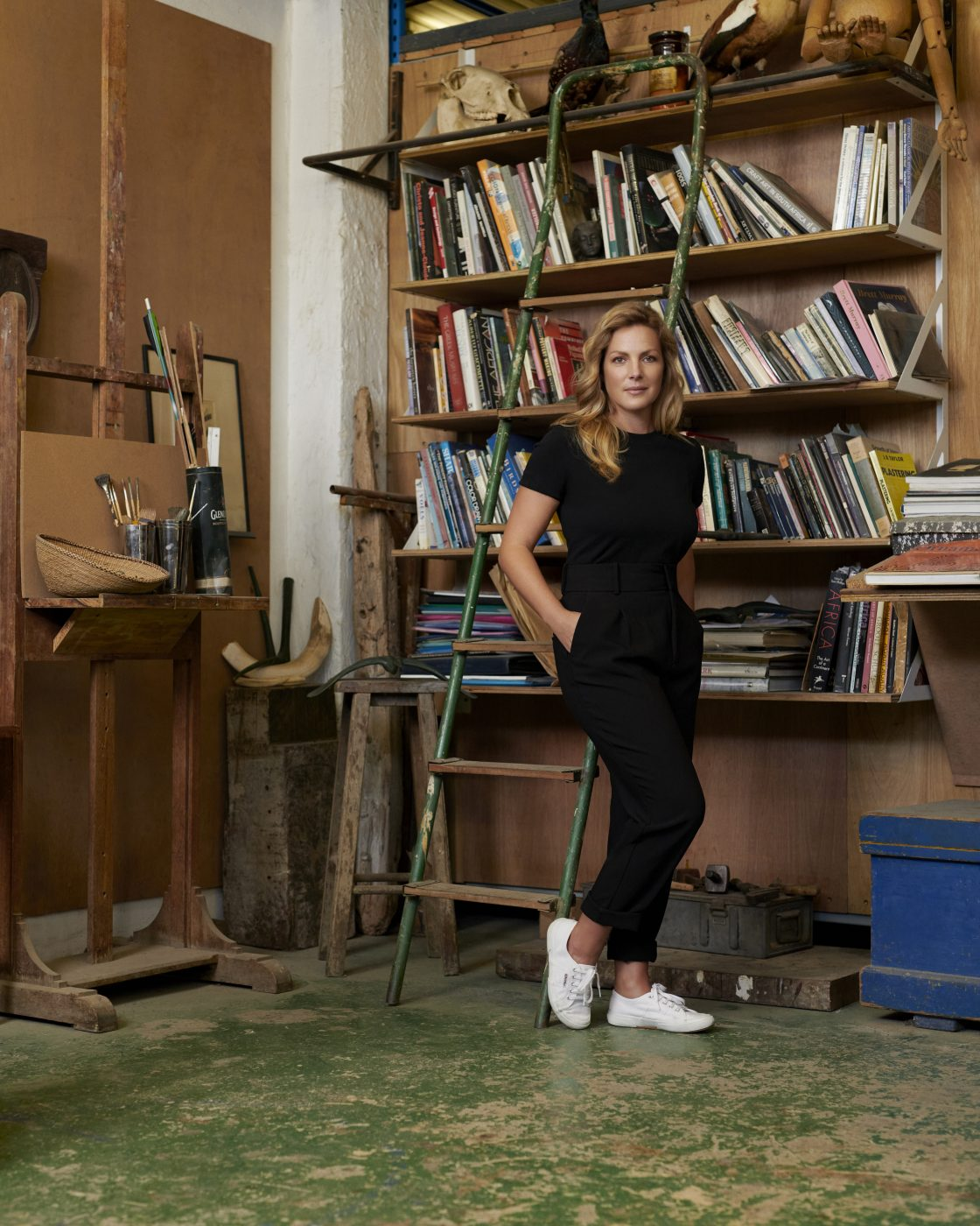 Eva Menz in the London workshop of her company Atelier001