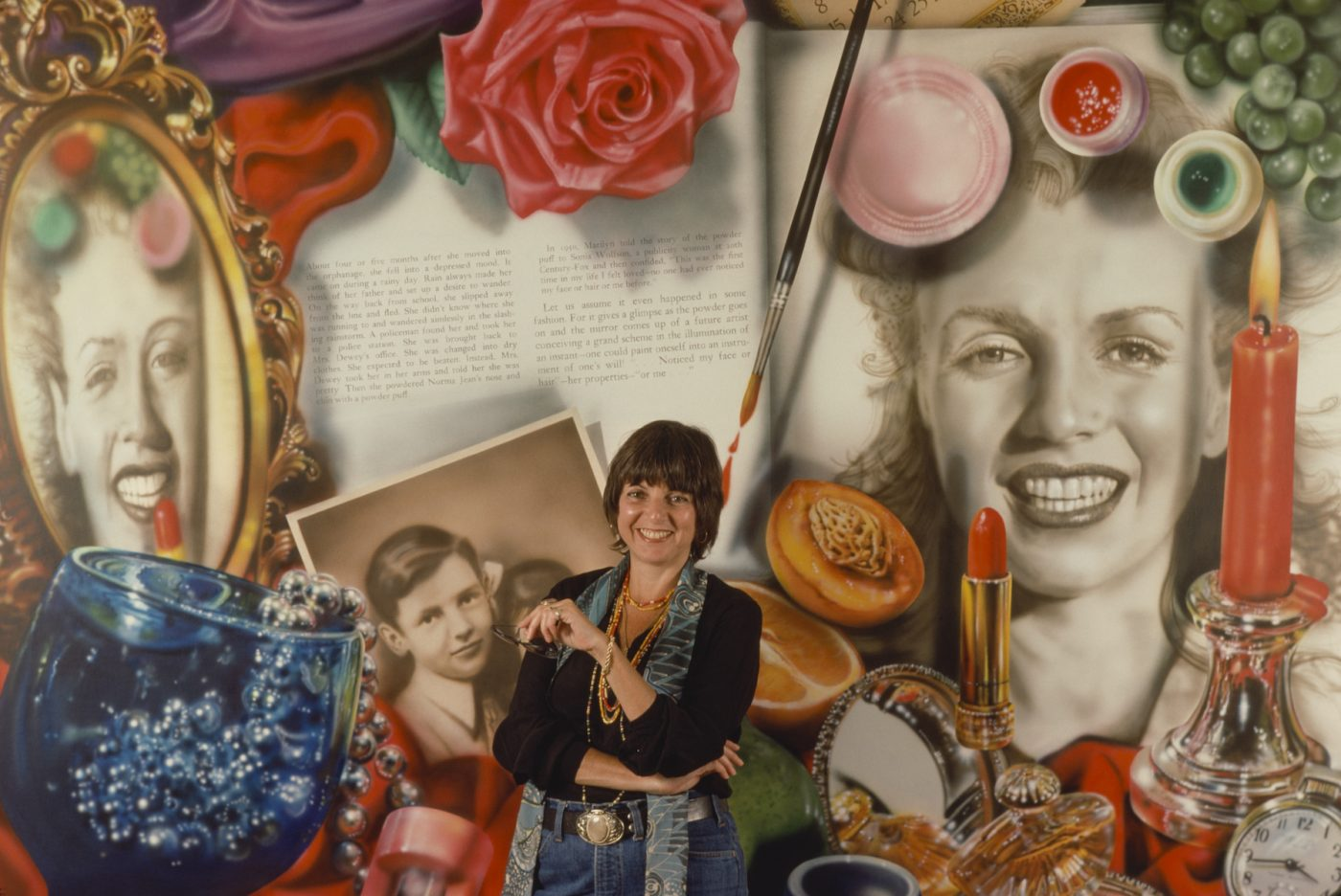 AUDREY FLACK, ca, 1980, with a montage of her works