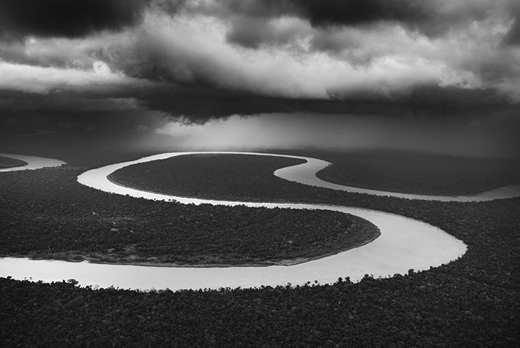 Sebastião Salgado: Heavy Rain on the Juruá River. Tefé Area (Lower Juruá). State of Amazonas, Brazil. 2009