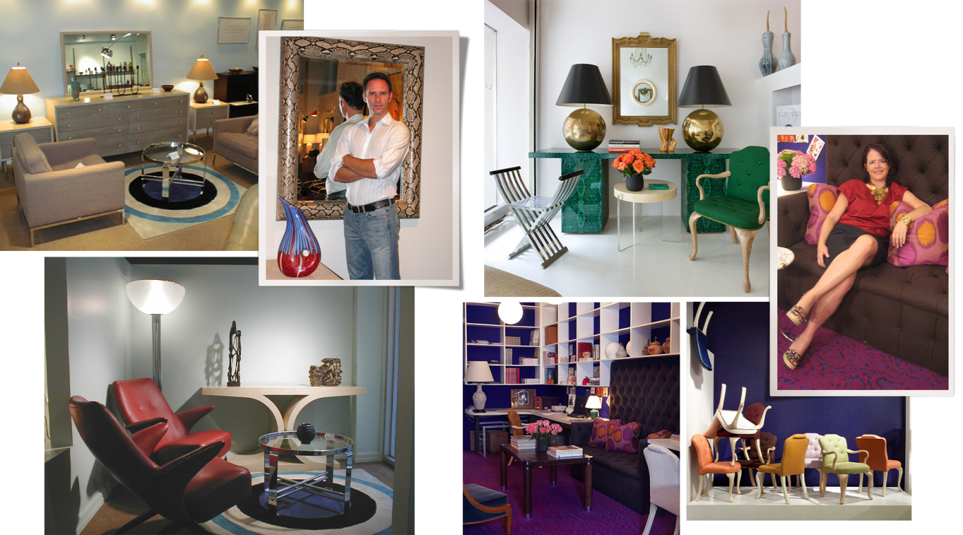 Collage of images from Lobel and O'Brien's galleries