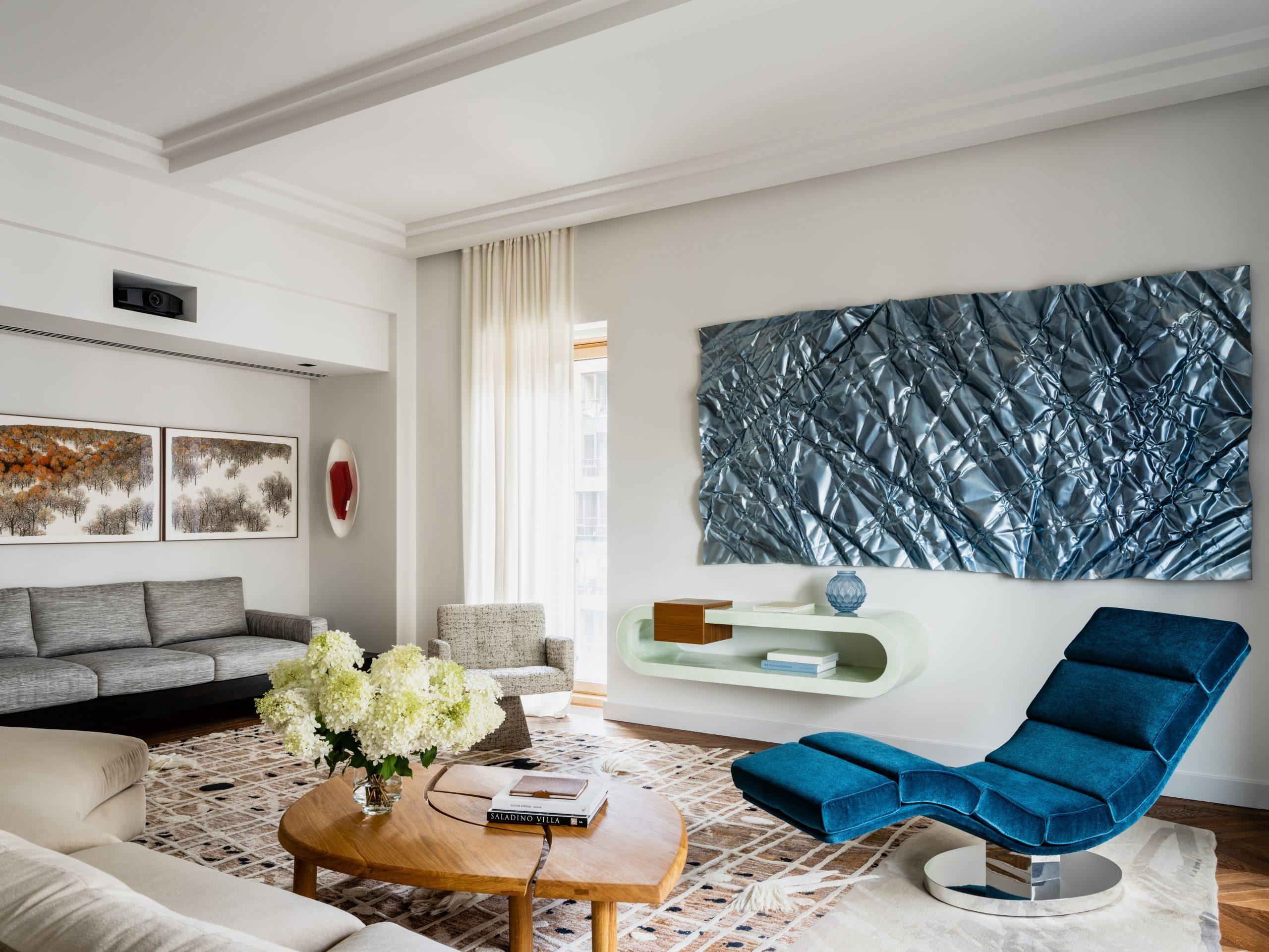 Living room in Moscow home designed by Malyeva