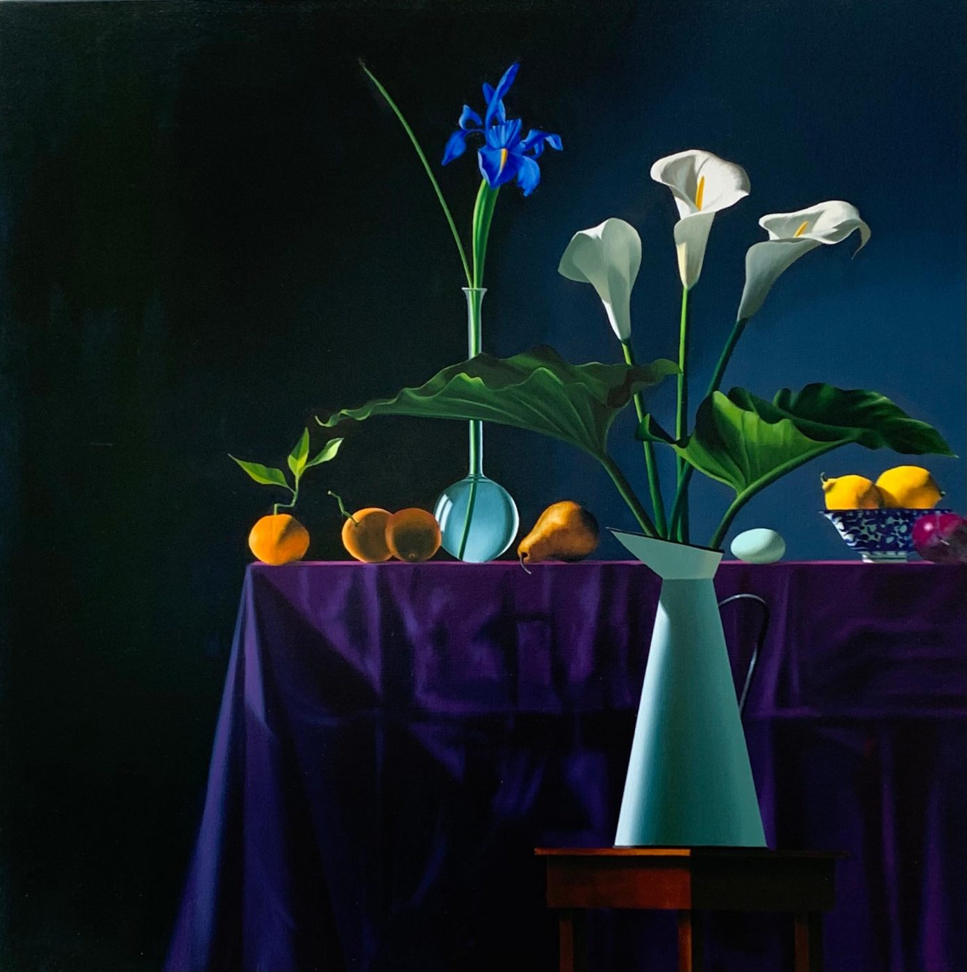 Still Life with Calla Lilies in Pitcher, 2020, by Bruce Cohen