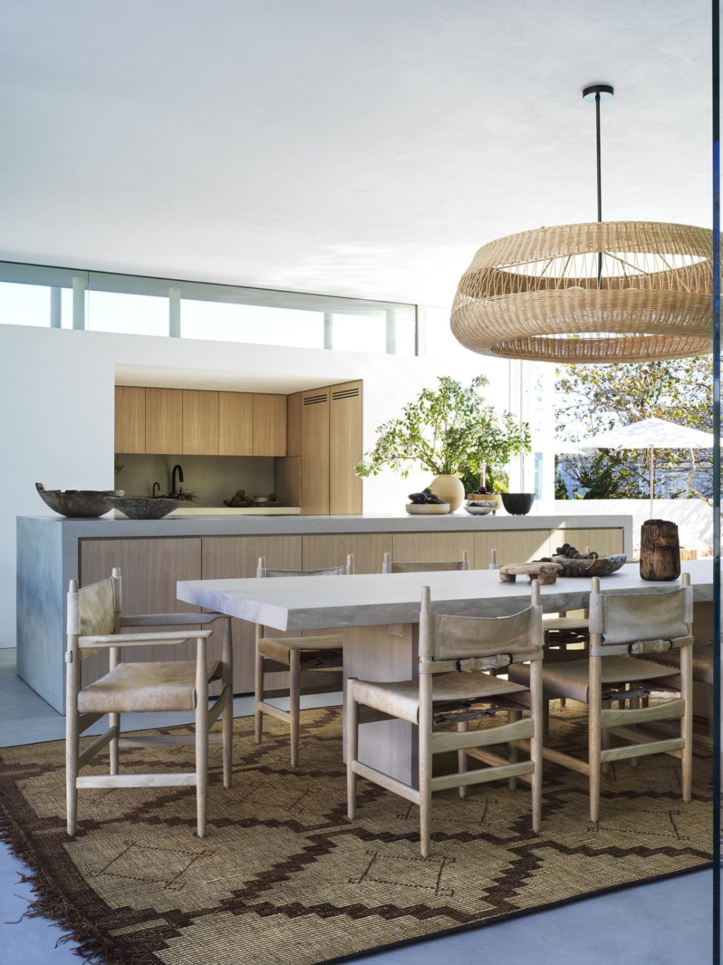 Dining room and kitchen area designed by Alexander