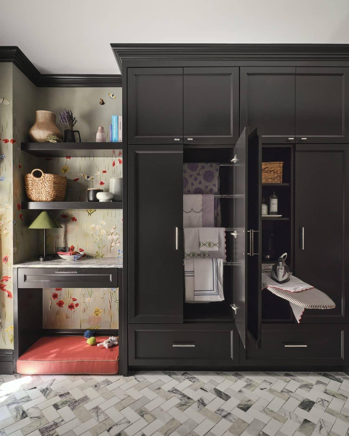 Laundry room designed by Kathleen Walsh