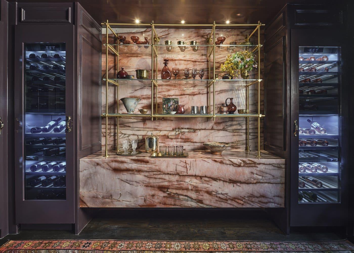 Wine cellar designed by Liz McPhall