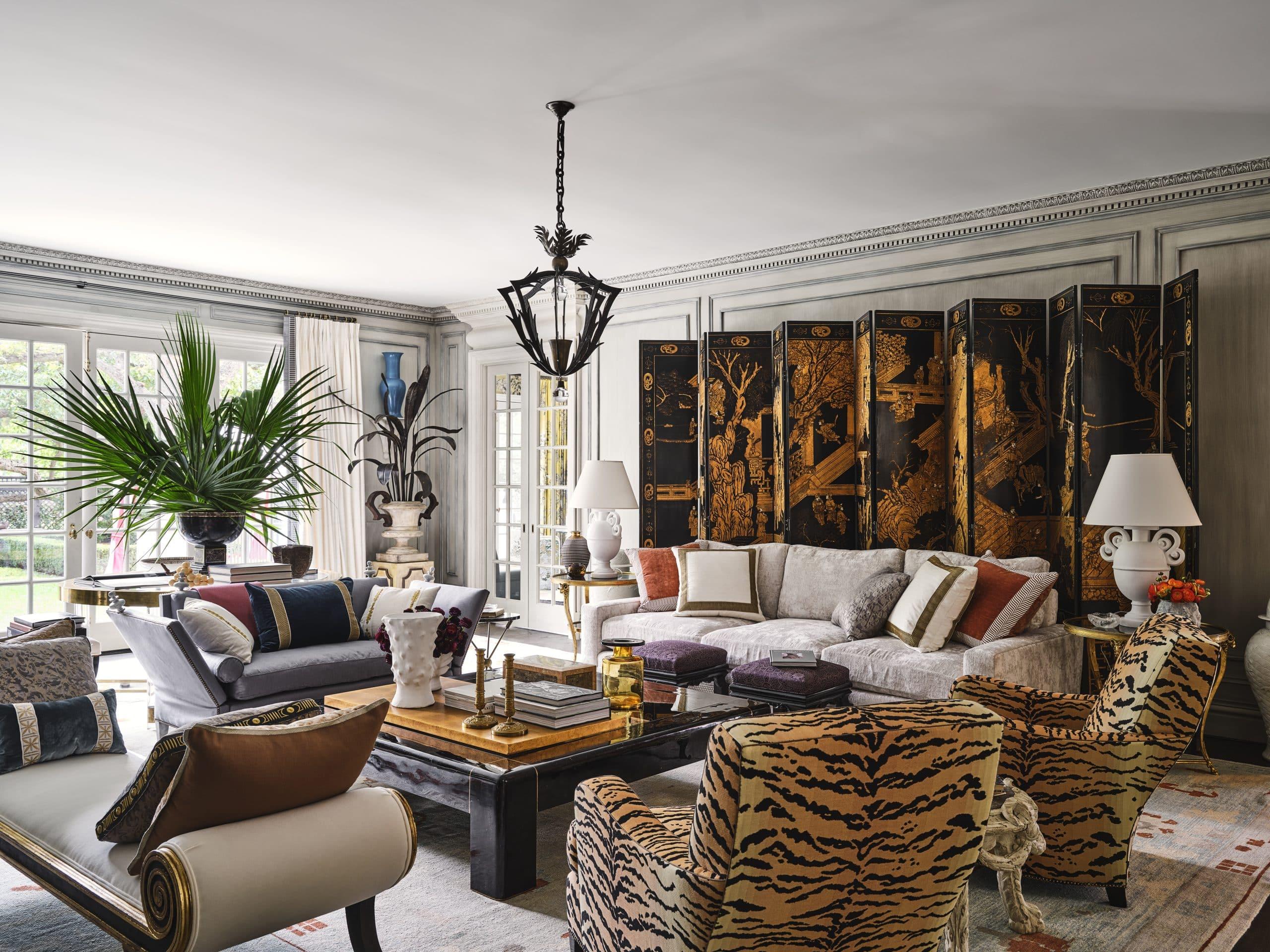 Living room designed by Michael Aiduss