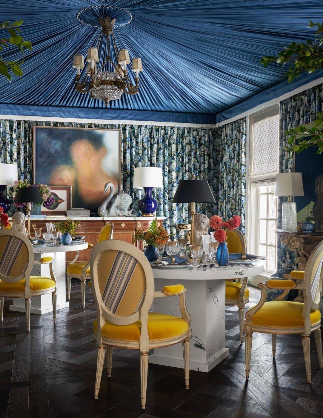 Dining room designed by Corey Damen Jenkins