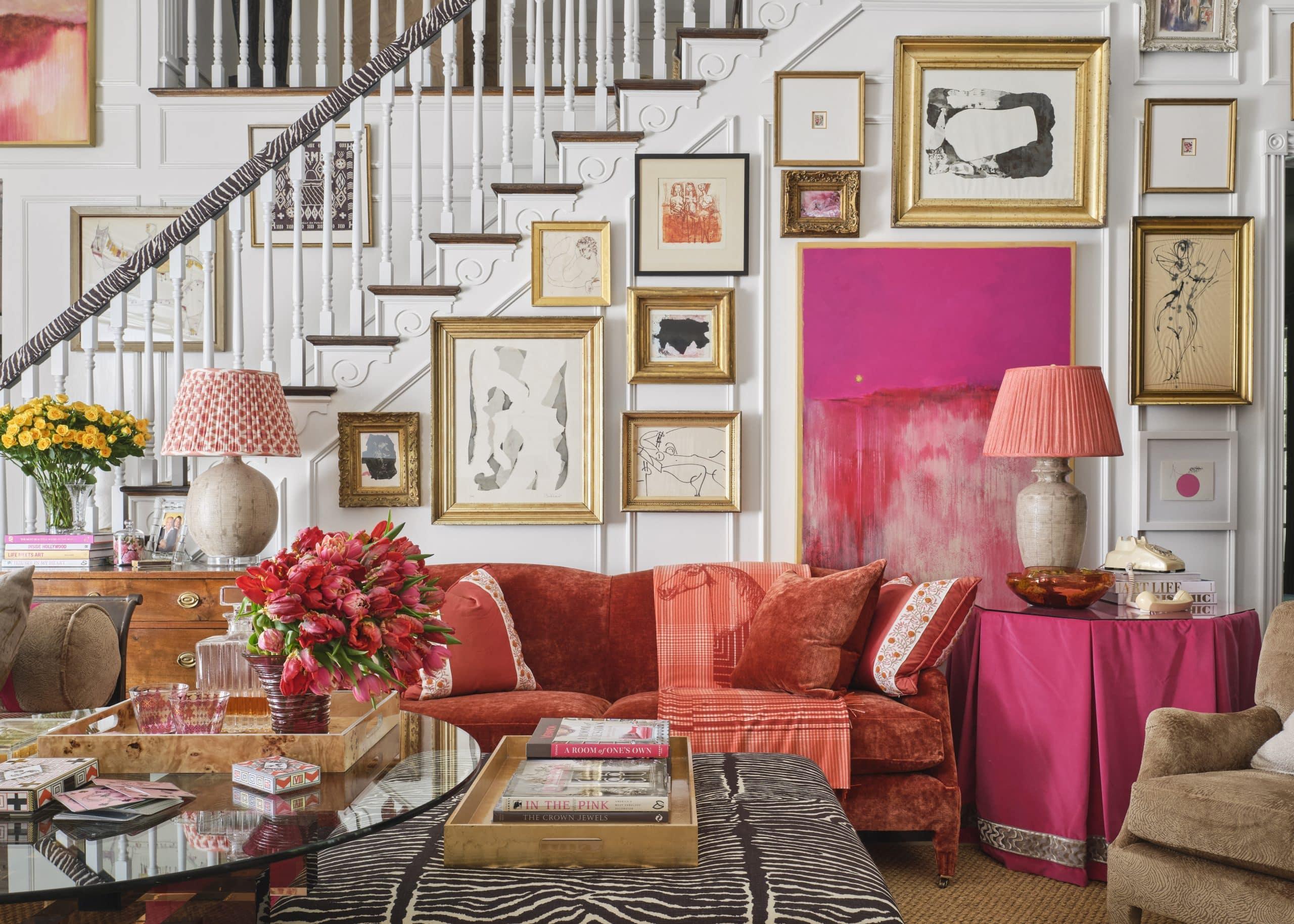 Family room designed by A. Lantz Design