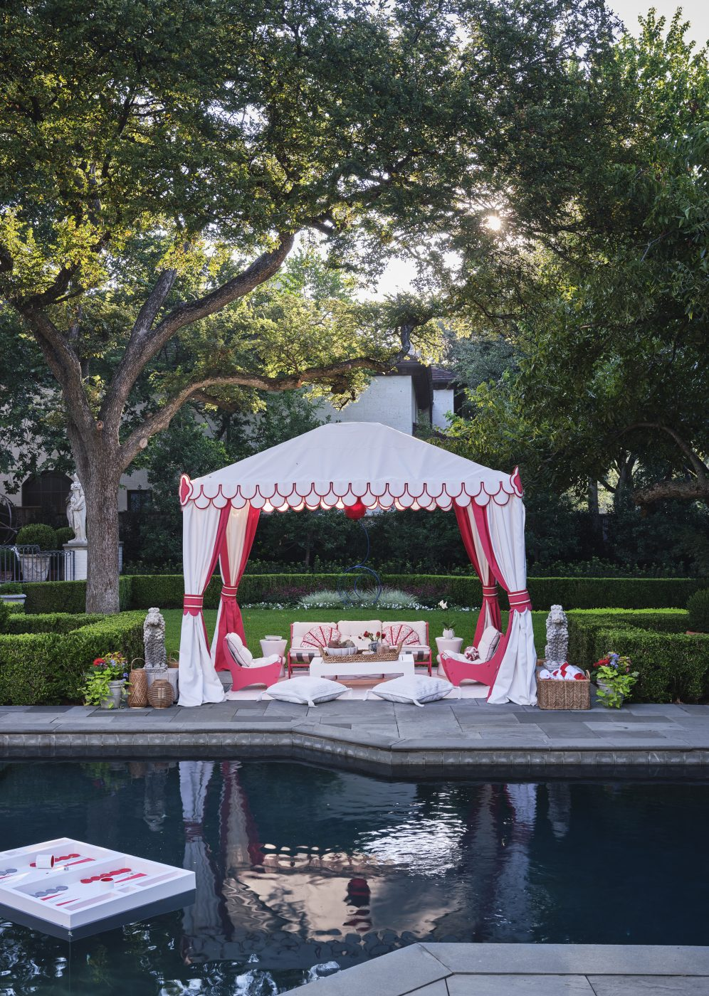 Pool terrace designed by Robin Henry