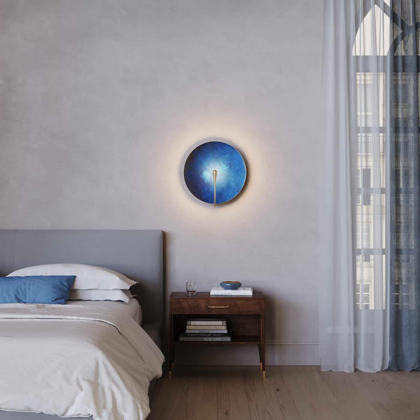 Eva Menz for Atelier001 Cosmic Azure sconce.