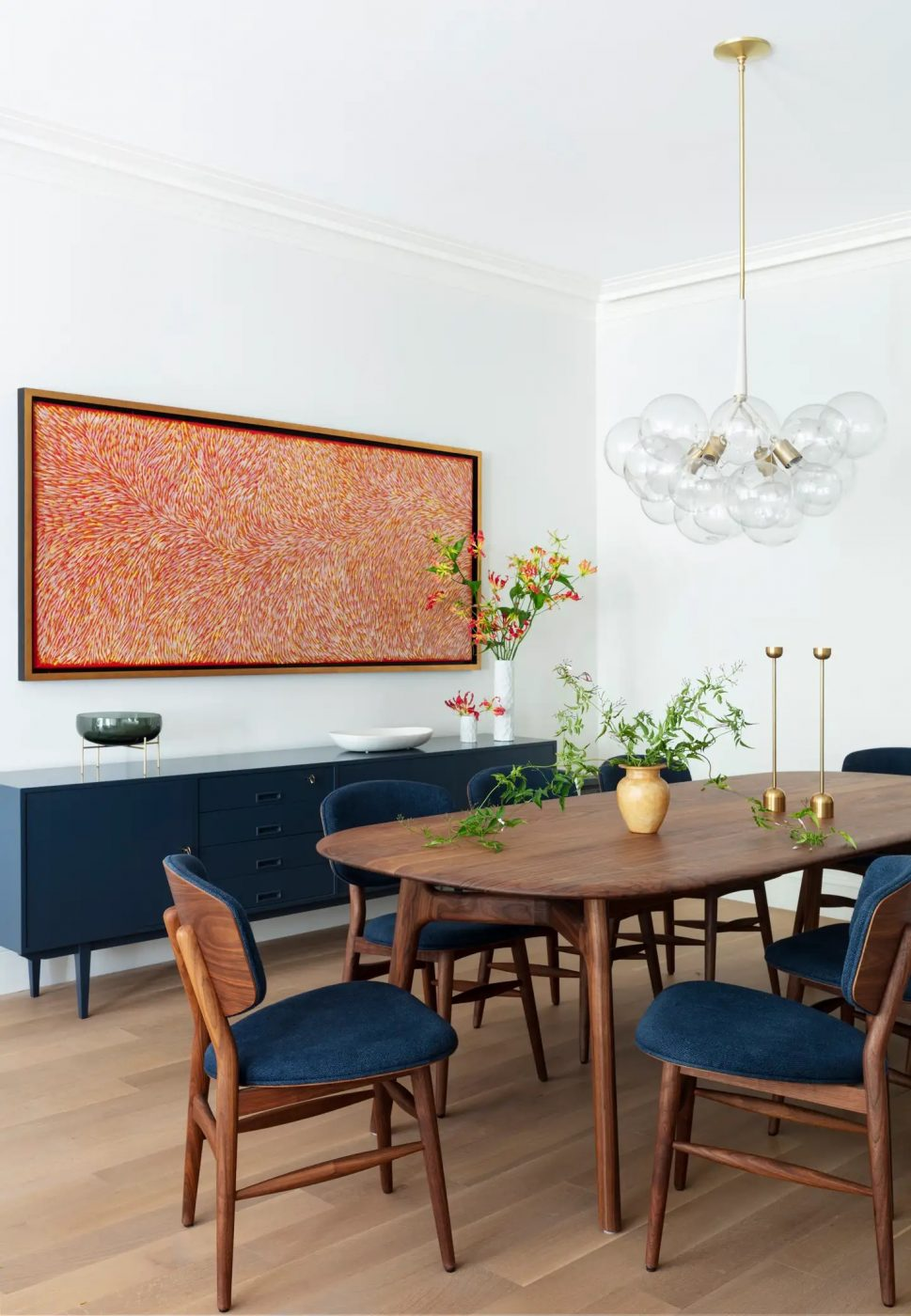 Dining room in NYC designed by Harris