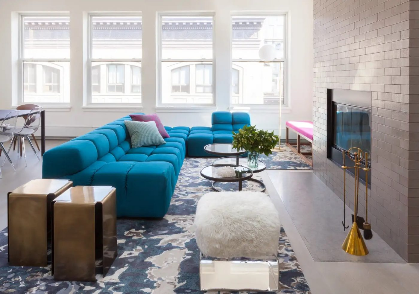 Chelsea Penthouse living room designed by Harris